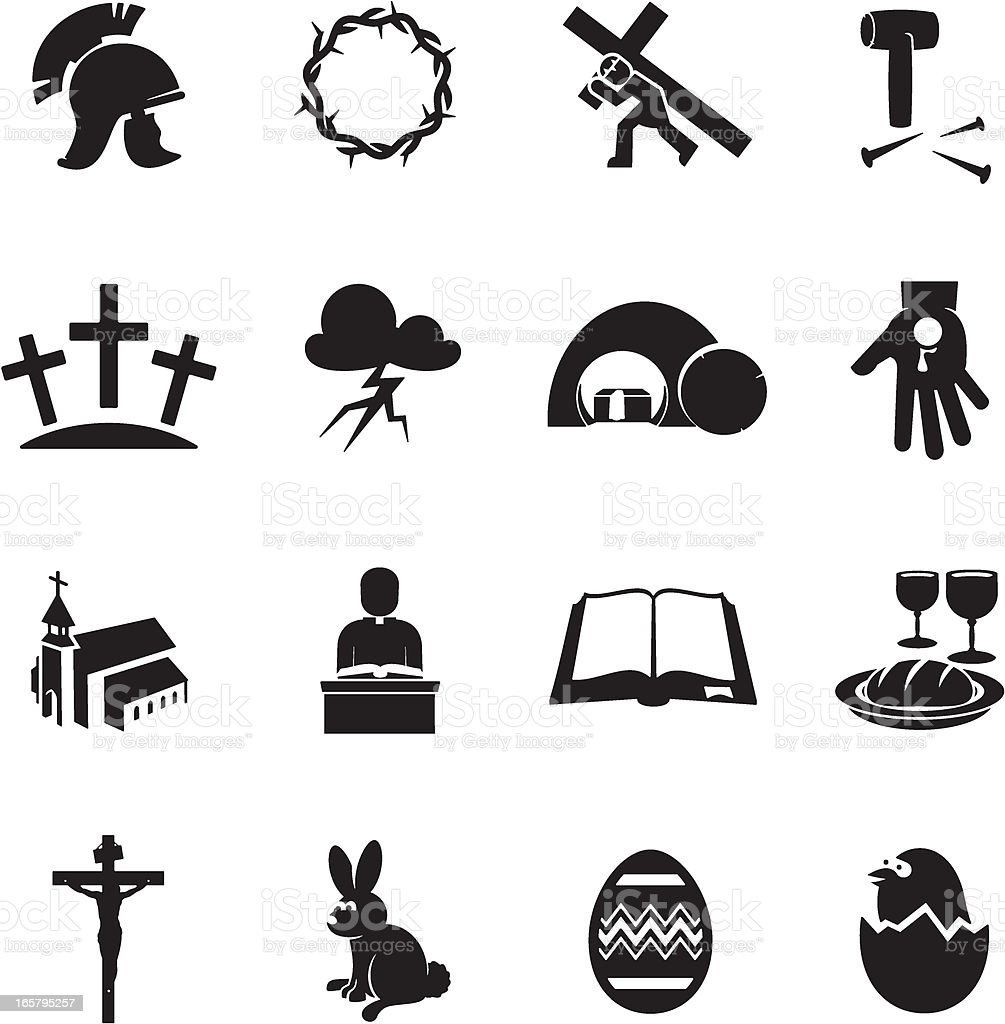 Easter Icons royalty-free stock vector art