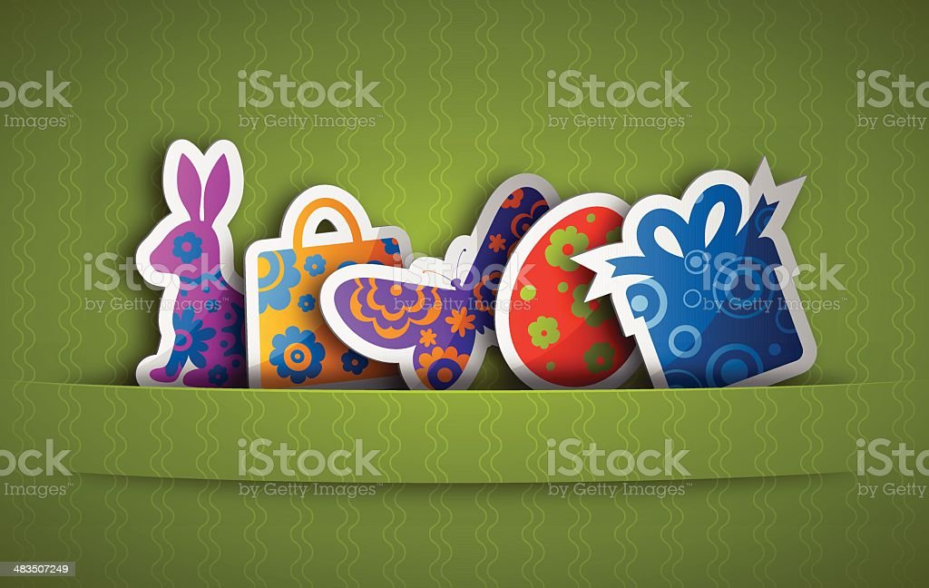 Easter Labels Set royalty-free stock vector art
