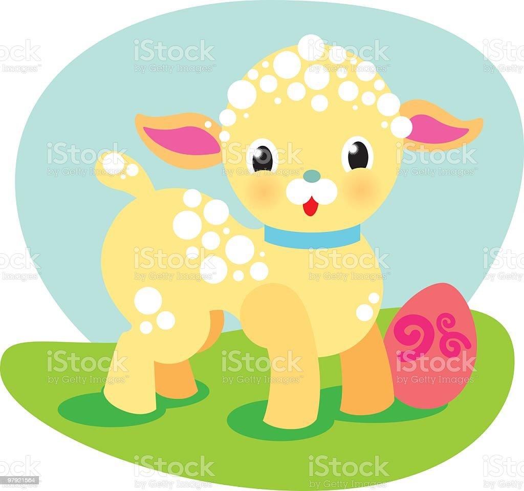 Easter Lamb royalty-free stock vector art