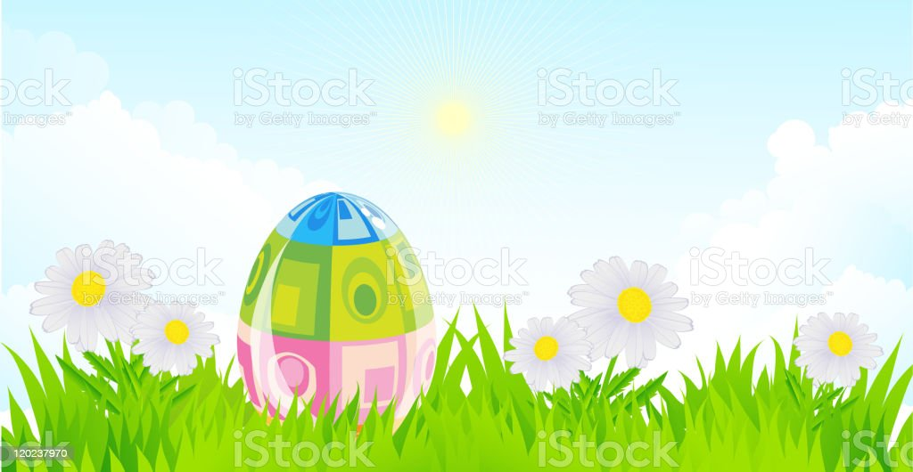 Easter landscape royalty-free stock vector art
