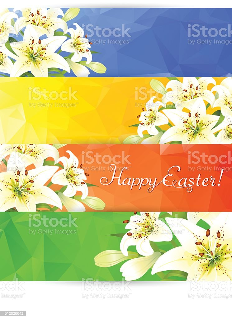 Easter Lily vector art illustration