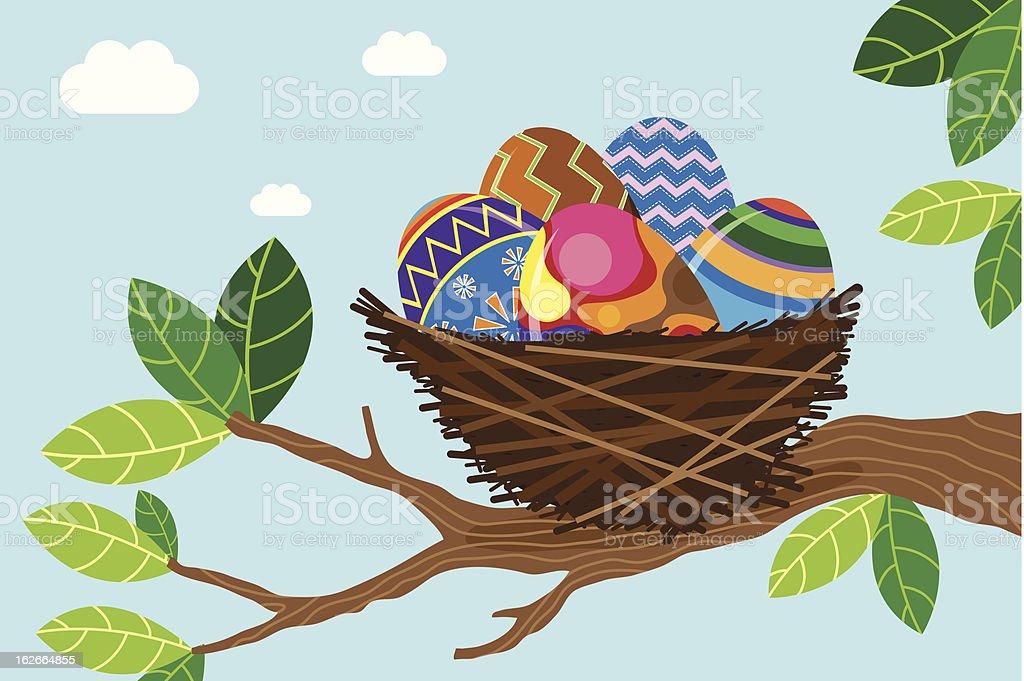Easter Nest royalty-free stock vector art
