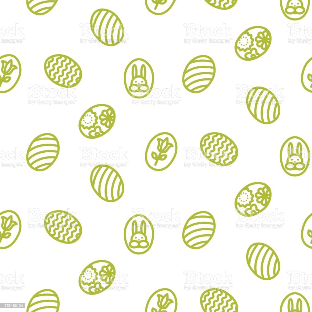 Easter outline icon seamless vector pattern vector art illustration