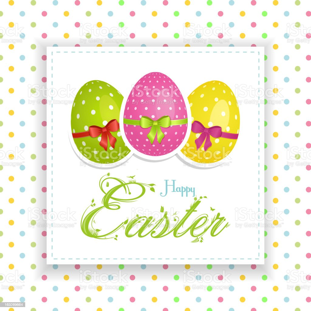 Easter Panel Background royalty-free stock vector art