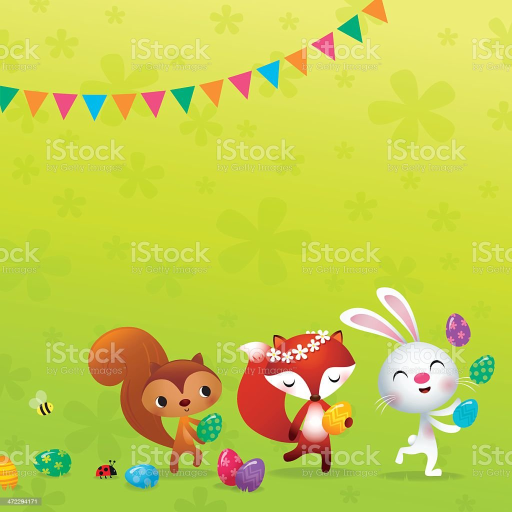 Easter parade royalty-free stock vector art