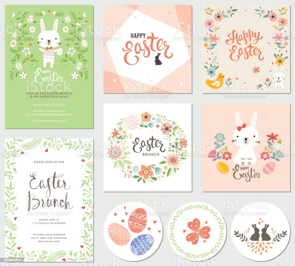 Easter Party Collection_05 vector art illustration