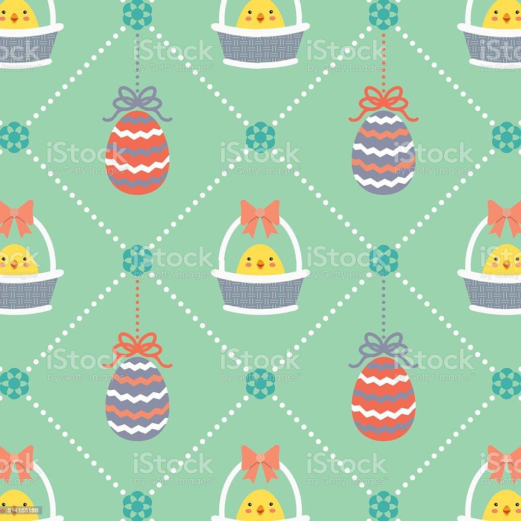 Easter pattern 1 vector art illustration
