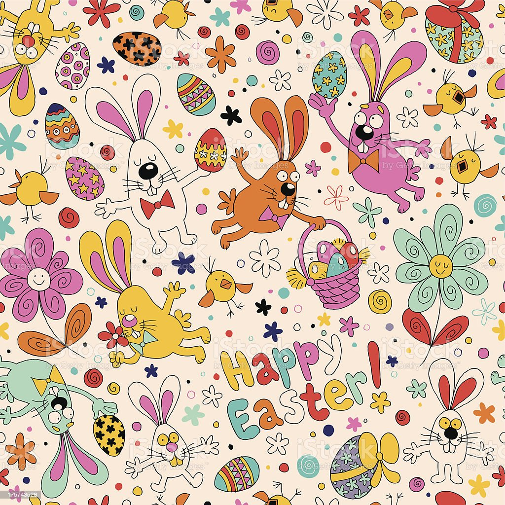 Easter pattern royalty-free stock vector art