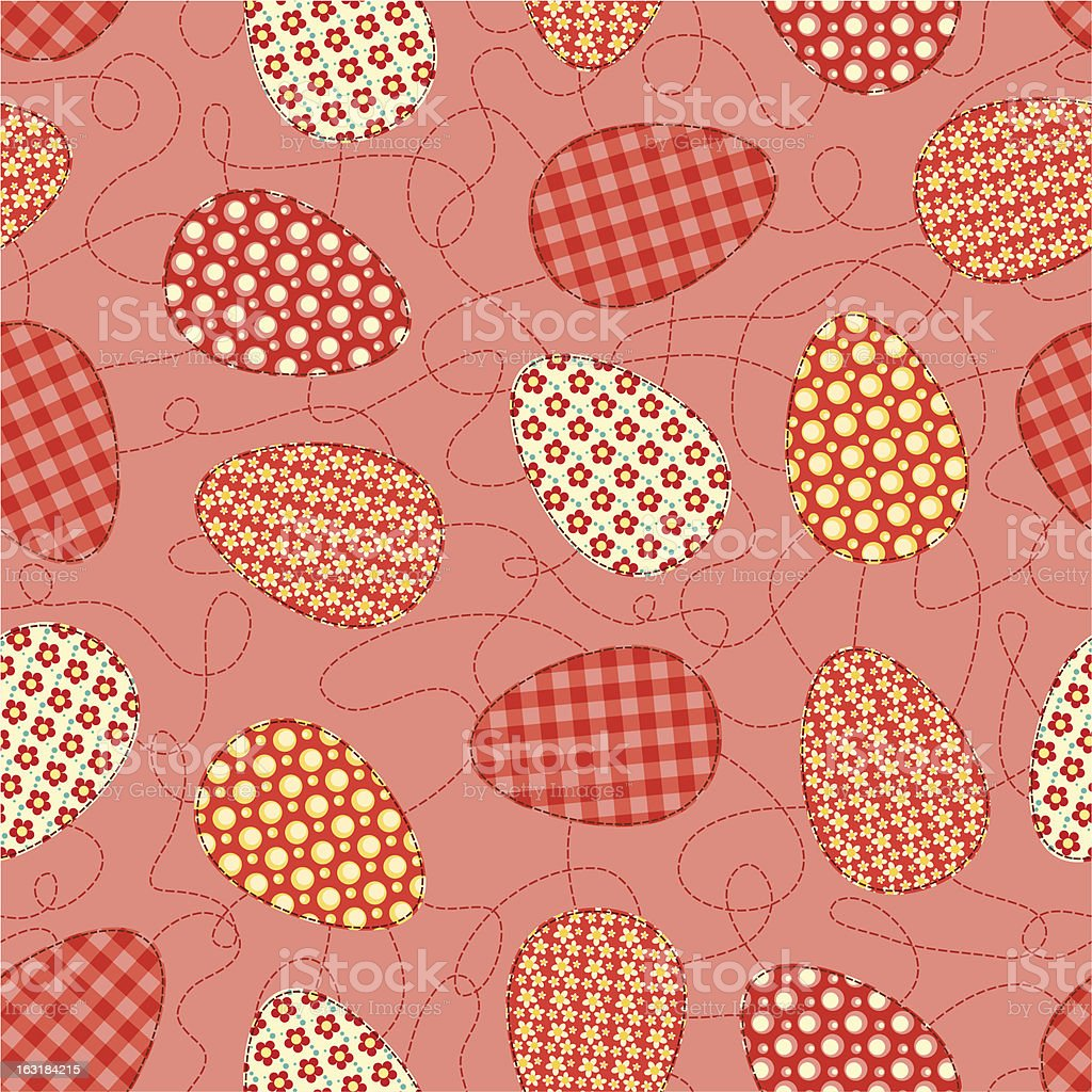 Easter pink seamless pattern. royalty-free stock vector art