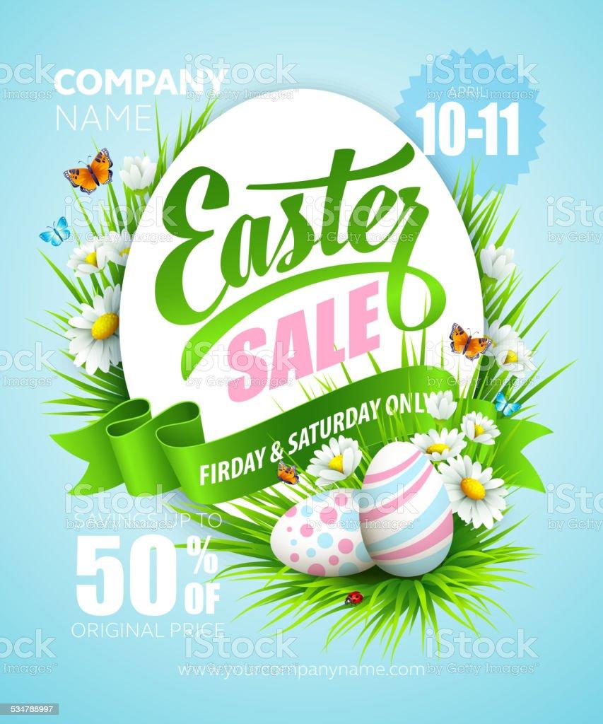 Easter poster. Vector illustration vector art illustration