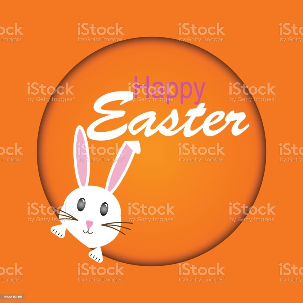Easter rabbit, easter Bunny vector art illustration