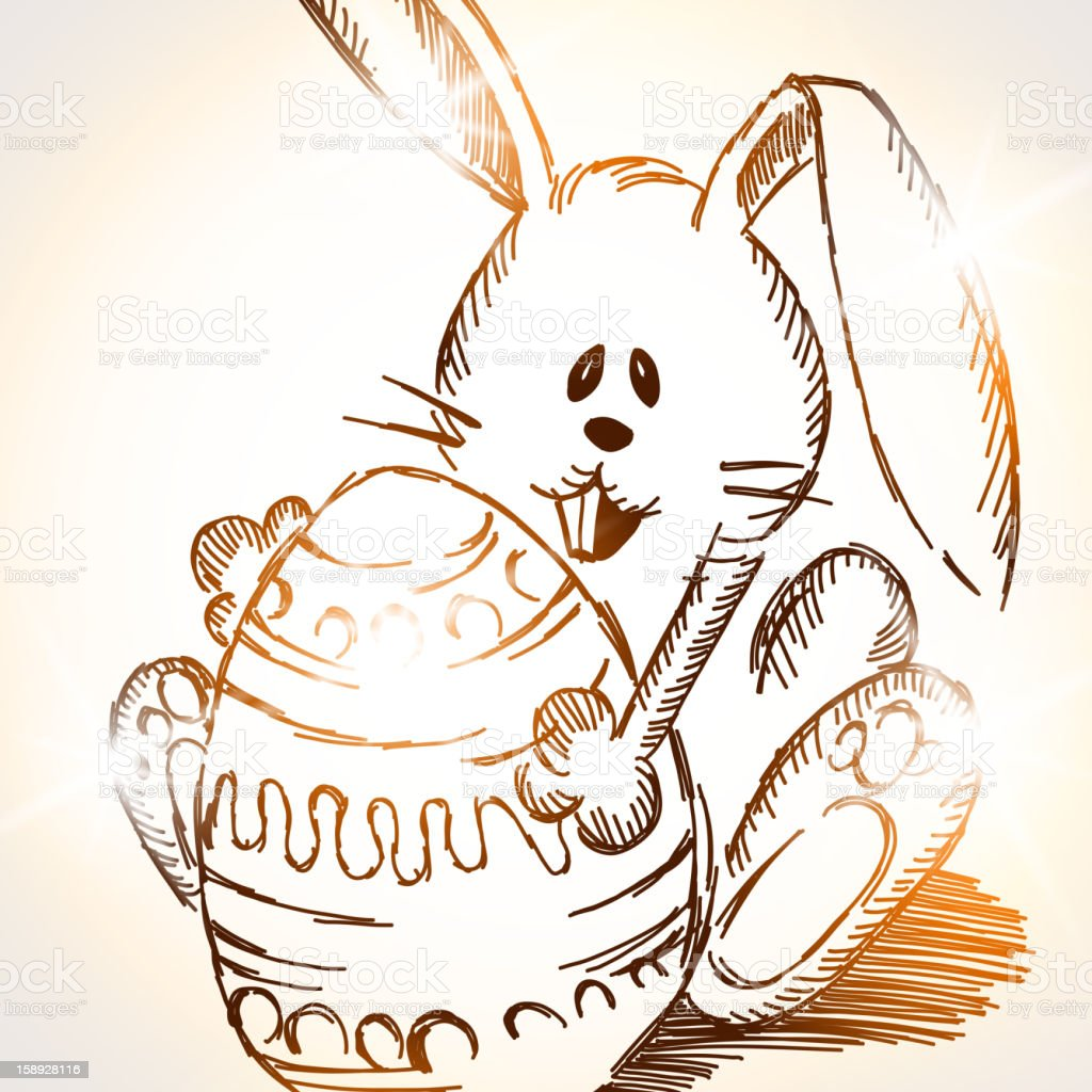 Easter rabbit royalty-free stock vector art