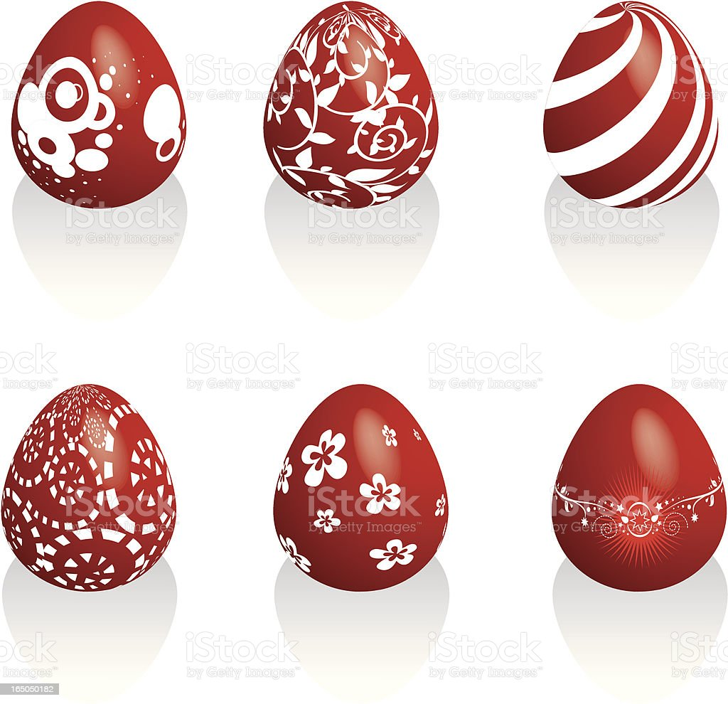 easter red eggs royalty-free stock vector art