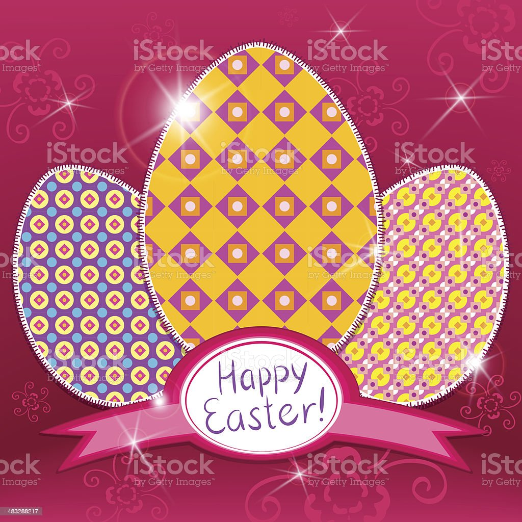 easter retro background royalty-free stock vector art