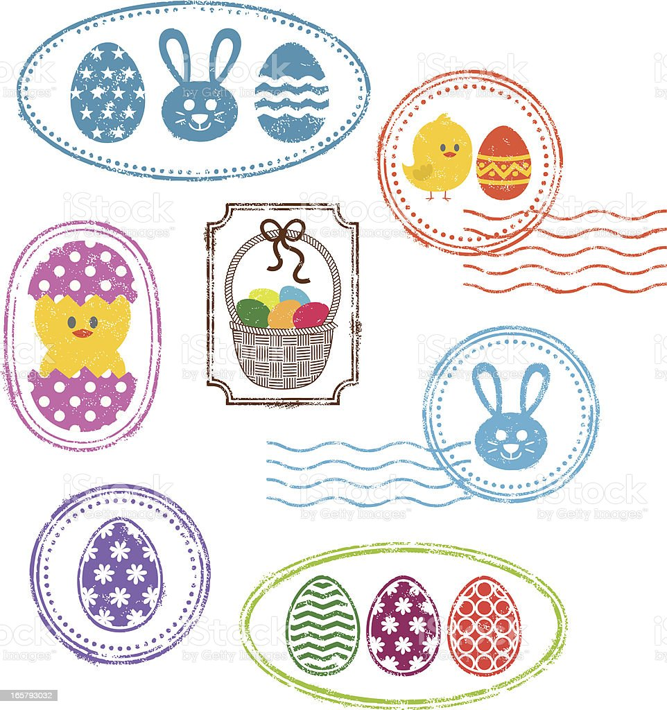 Easter rubber stamps royalty-free stock vector art