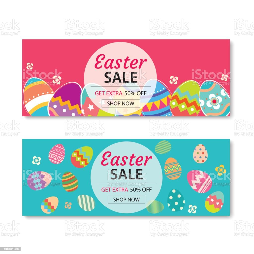 Easter Sale Banner Template Backgroundcan Be Used For Voucher – Easter Brochure Template