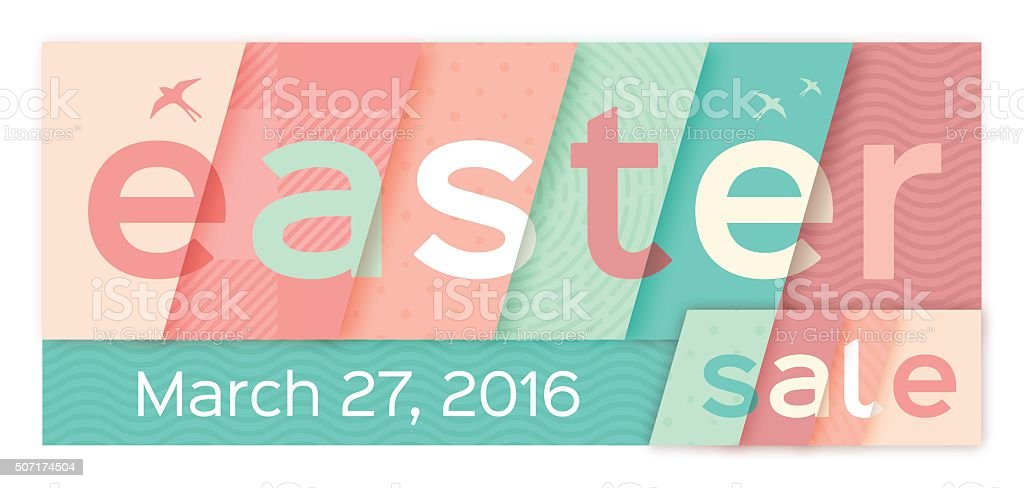 Easter Sale Banner vector art illustration