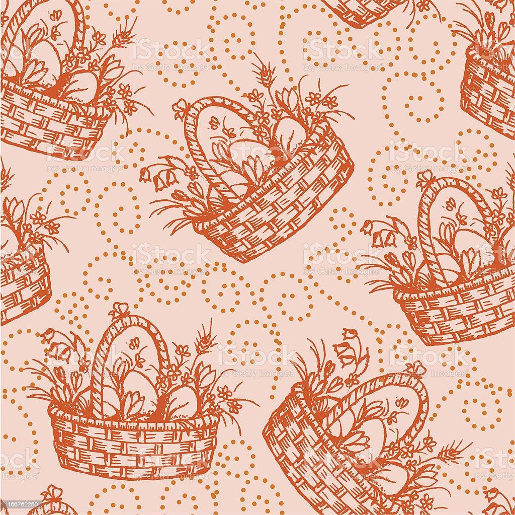 Easter seamless pettern royalty-free stock vector art