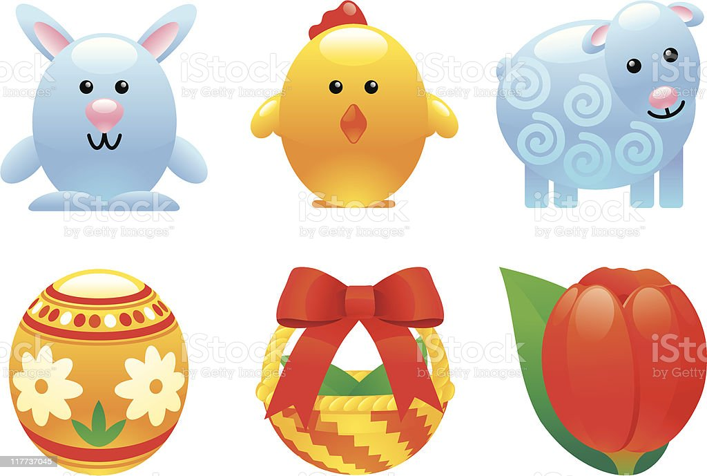 easter set royalty-free stock vector art
