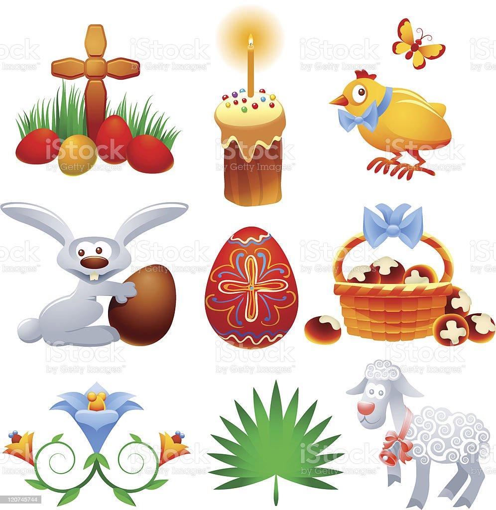 Easter Set royalty-free stock vector art