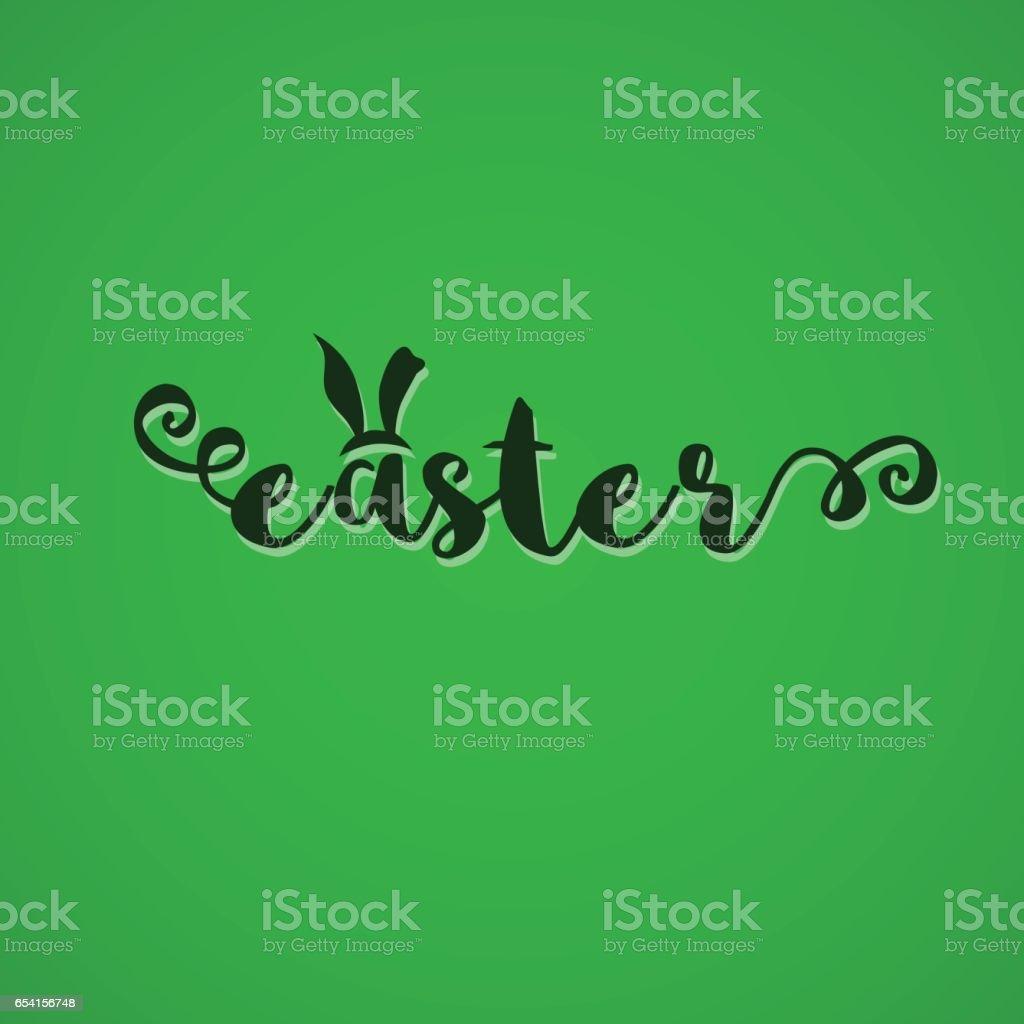 Easter sign on color background. vector art illustration