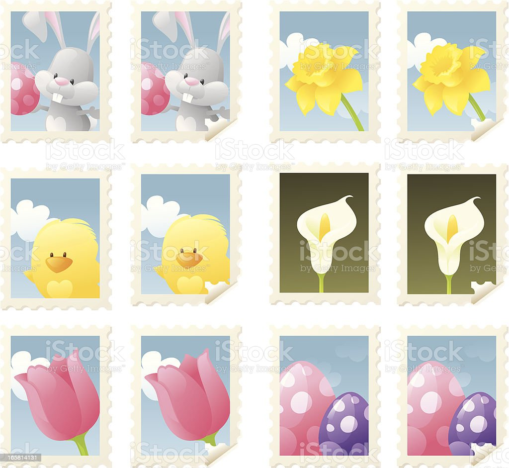 Easter Stamps royalty-free stock vector art