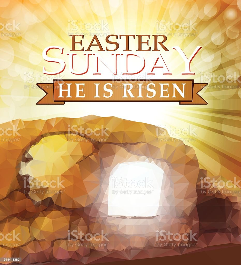 Easter Sunrise vector art illustration