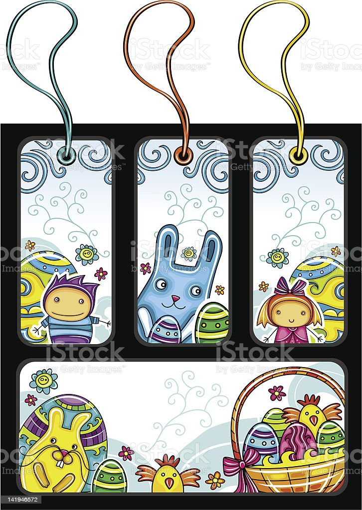 Easter tags royalty-free stock vector art