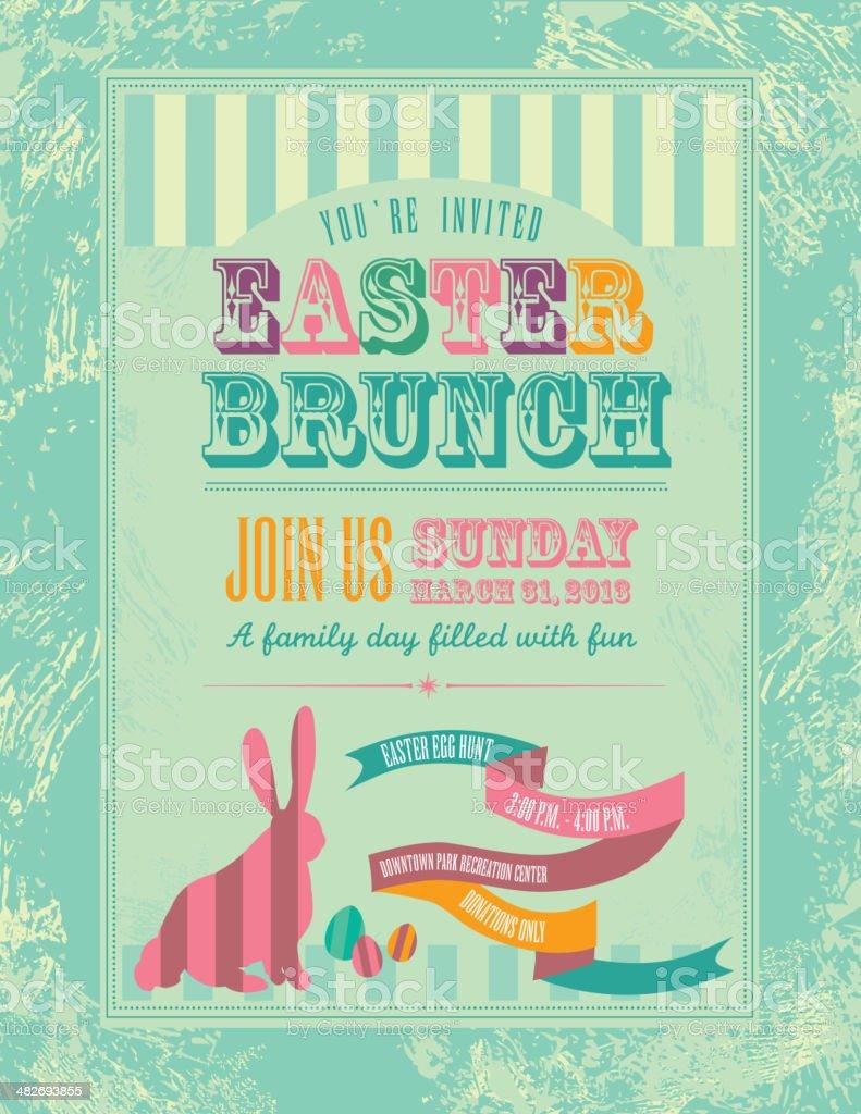 Easter themed invitation design template royalty-free stock vector art