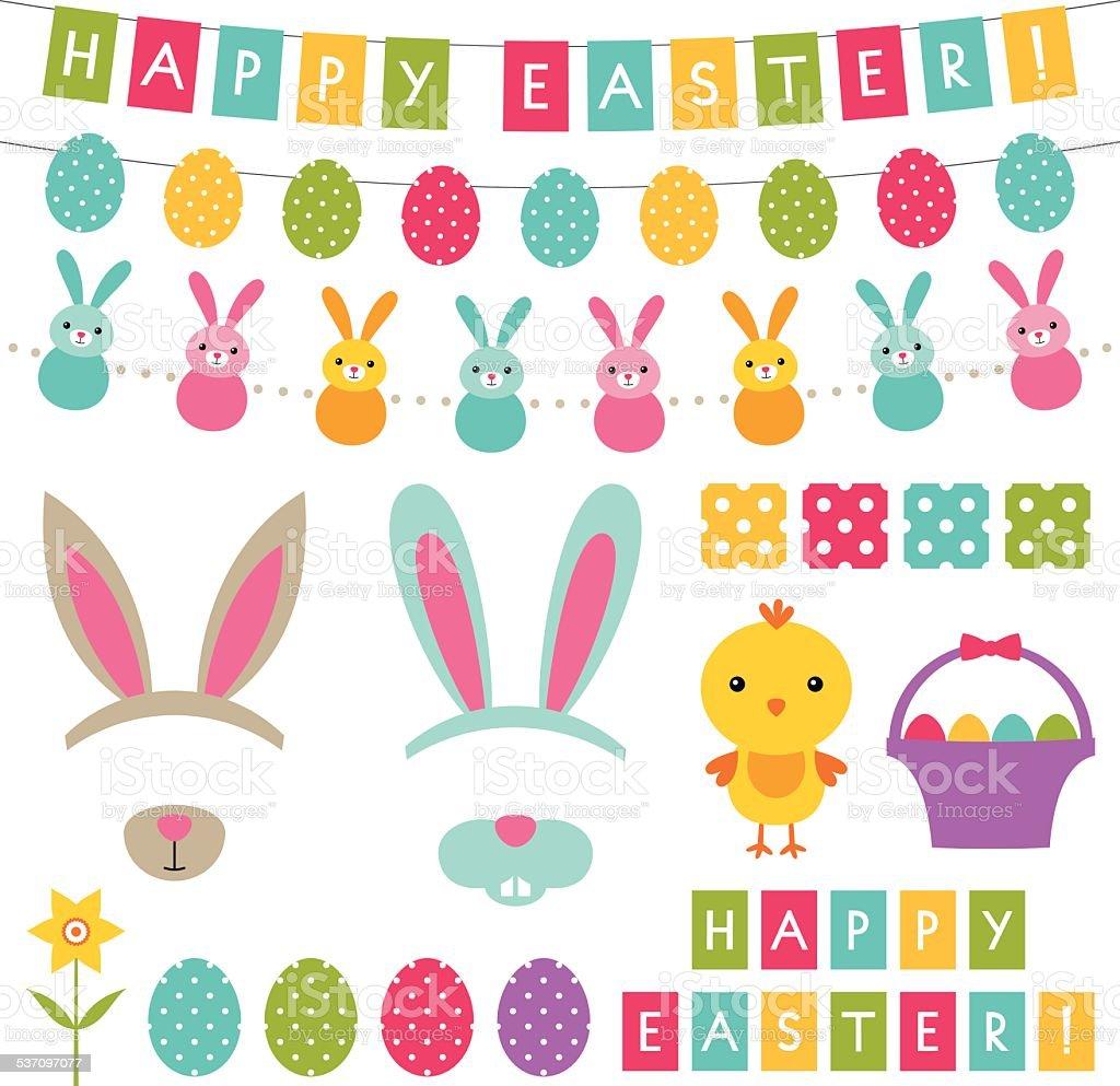 Easter vector decorationset vector art illustration