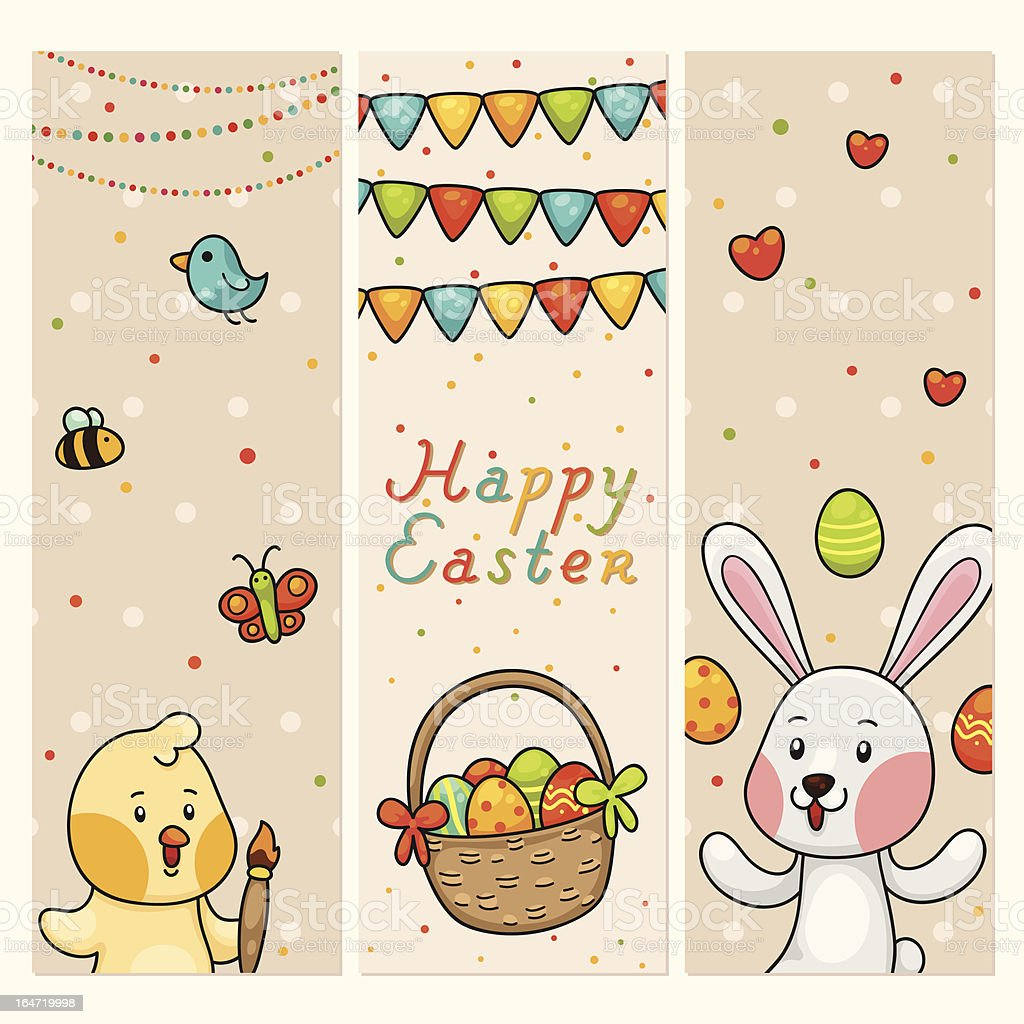 Easter vertical banners royalty-free stock vector art