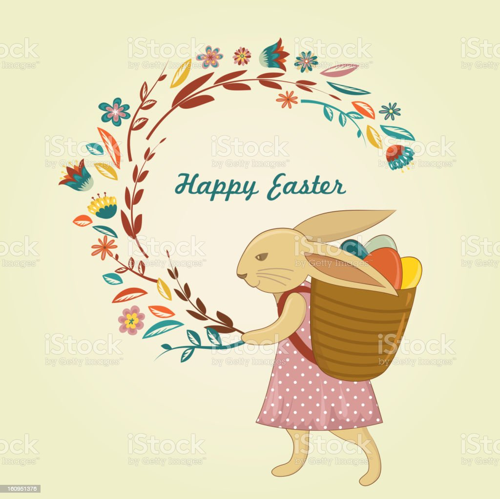 Easter vintage style greeting card royalty-free stock vector art
