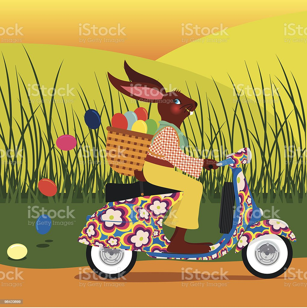 Easter vespa royalty-free stock vector art