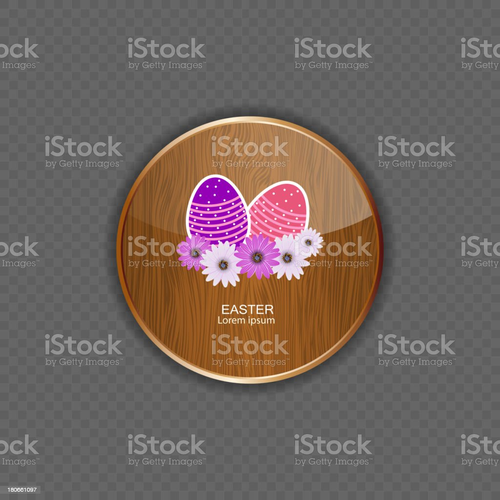 Easter wood application icons vector illustration royalty-free stock vector art