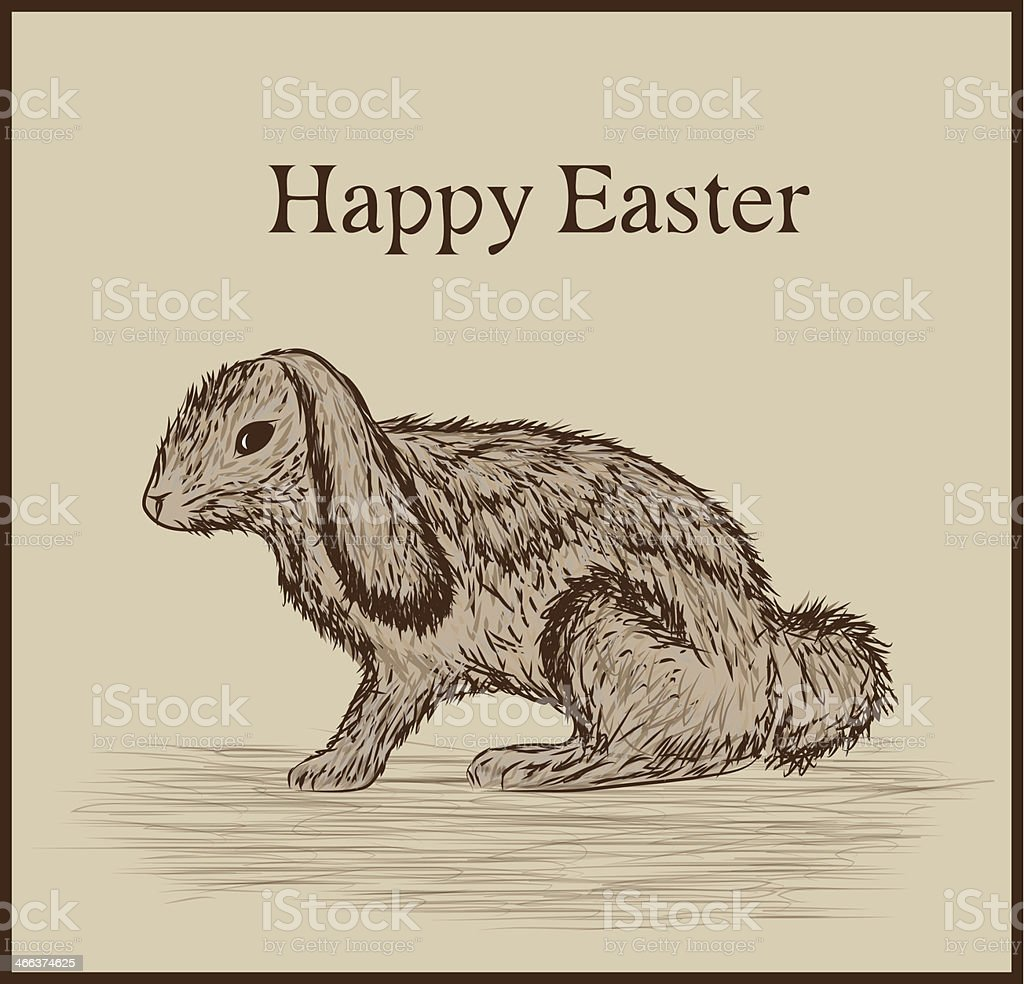 Eastern bunny vector art illustration