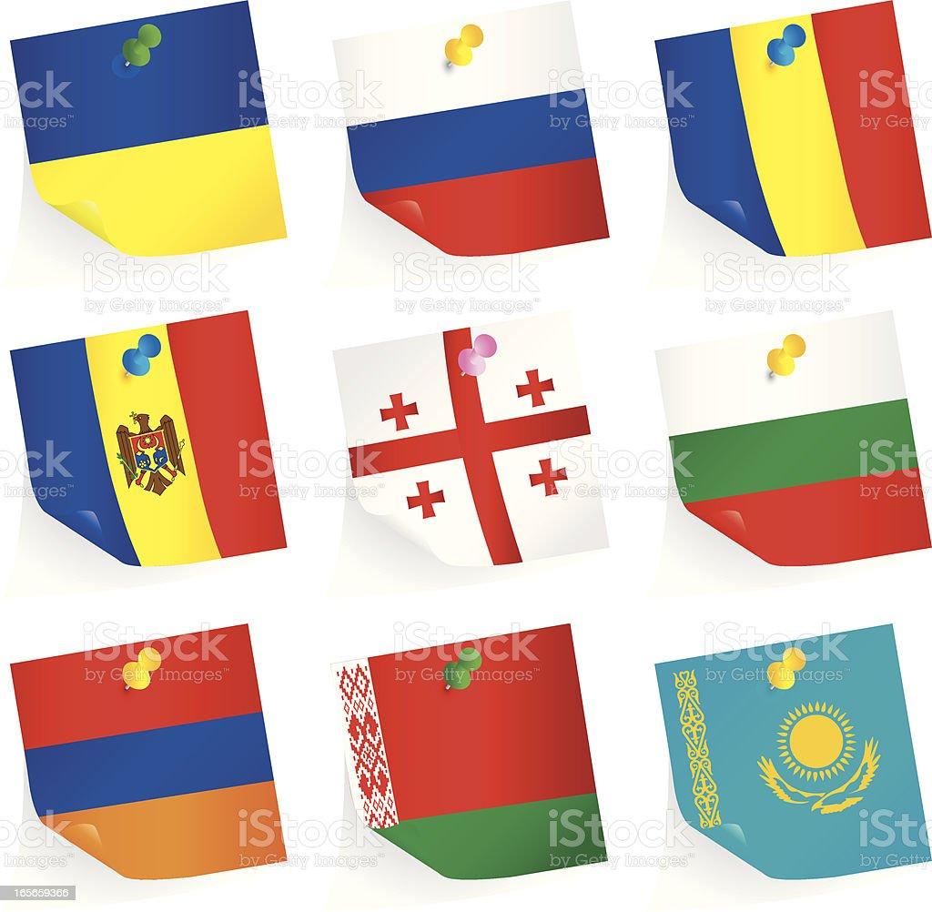 Eastern European Union Flags royalty-free stock vector art