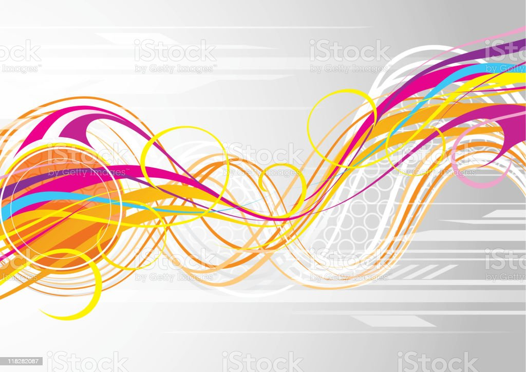 Easy abstraction from lines royalty-free stock vector art