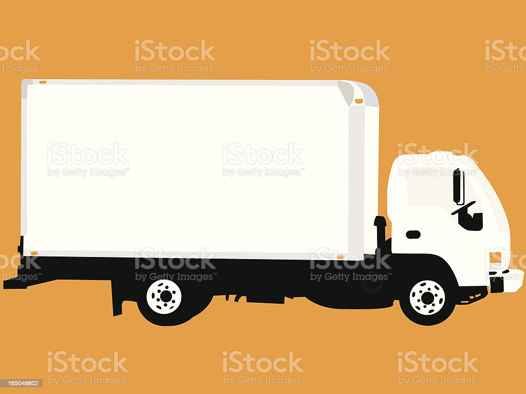 Easy Ad Work Truck royalty-free stock vector art