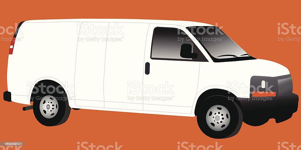 Easy Ad Work Van royalty-free stock vector art