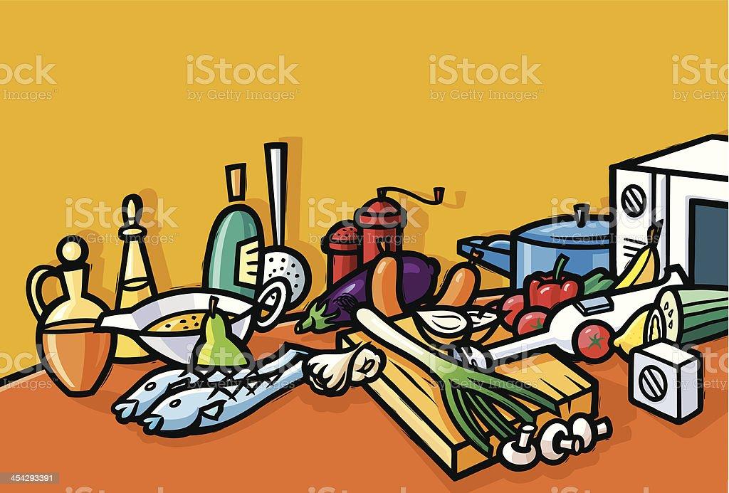 easy cooking vector art illustration