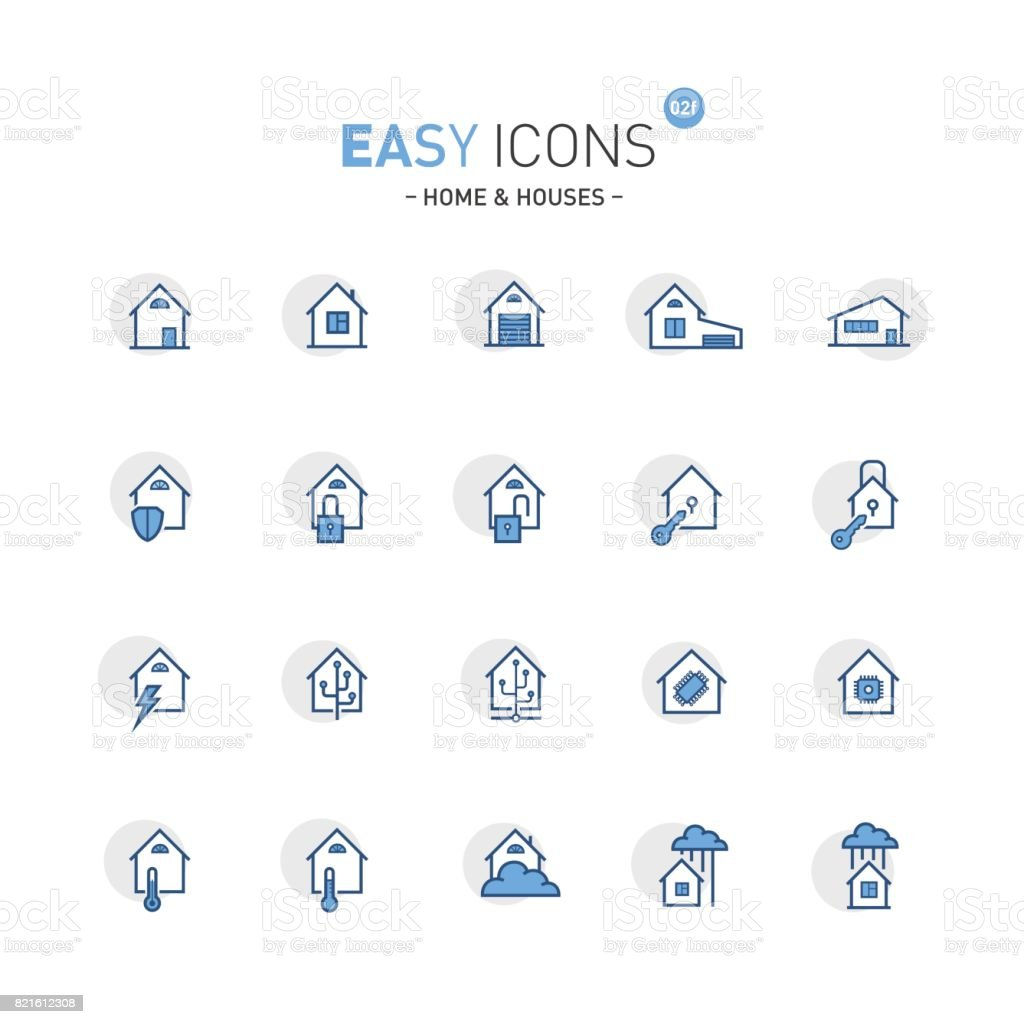Easy icons 02f Home vector art illustration