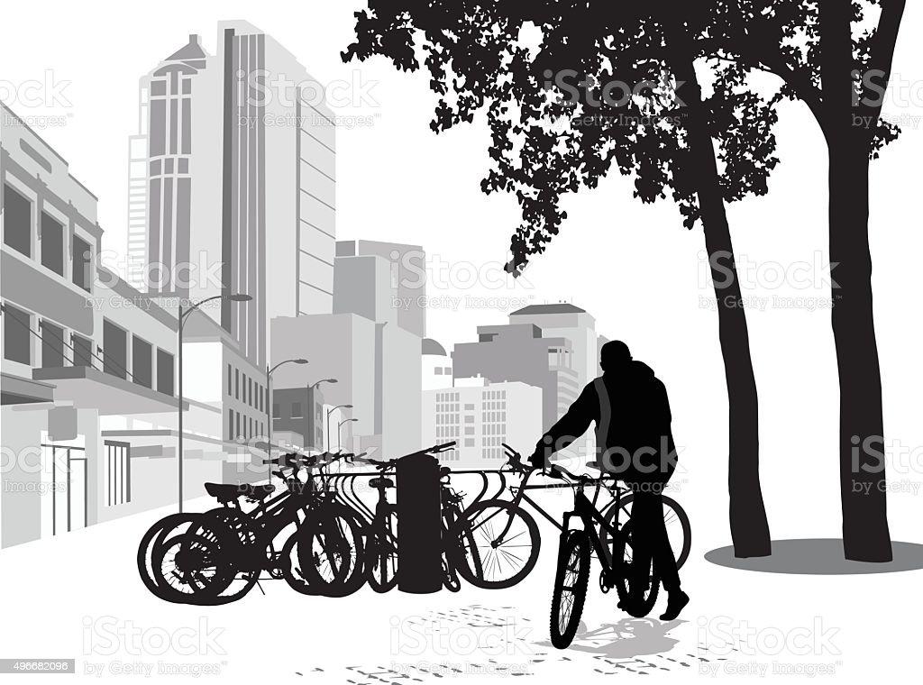 Easy Parking vector art illustration