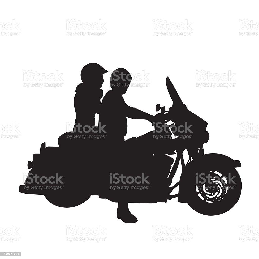 Easy Rider vector art illustration