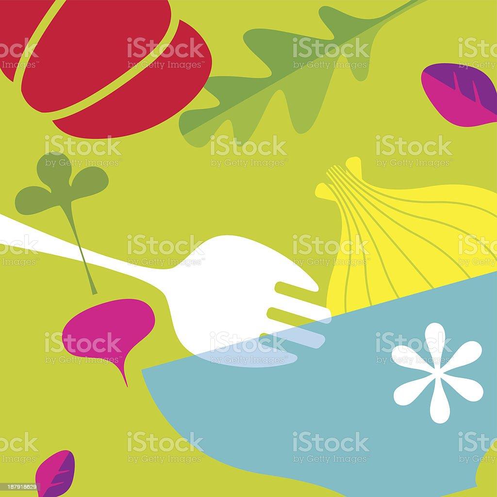 Eat Fresh (Green) royalty-free stock vector art