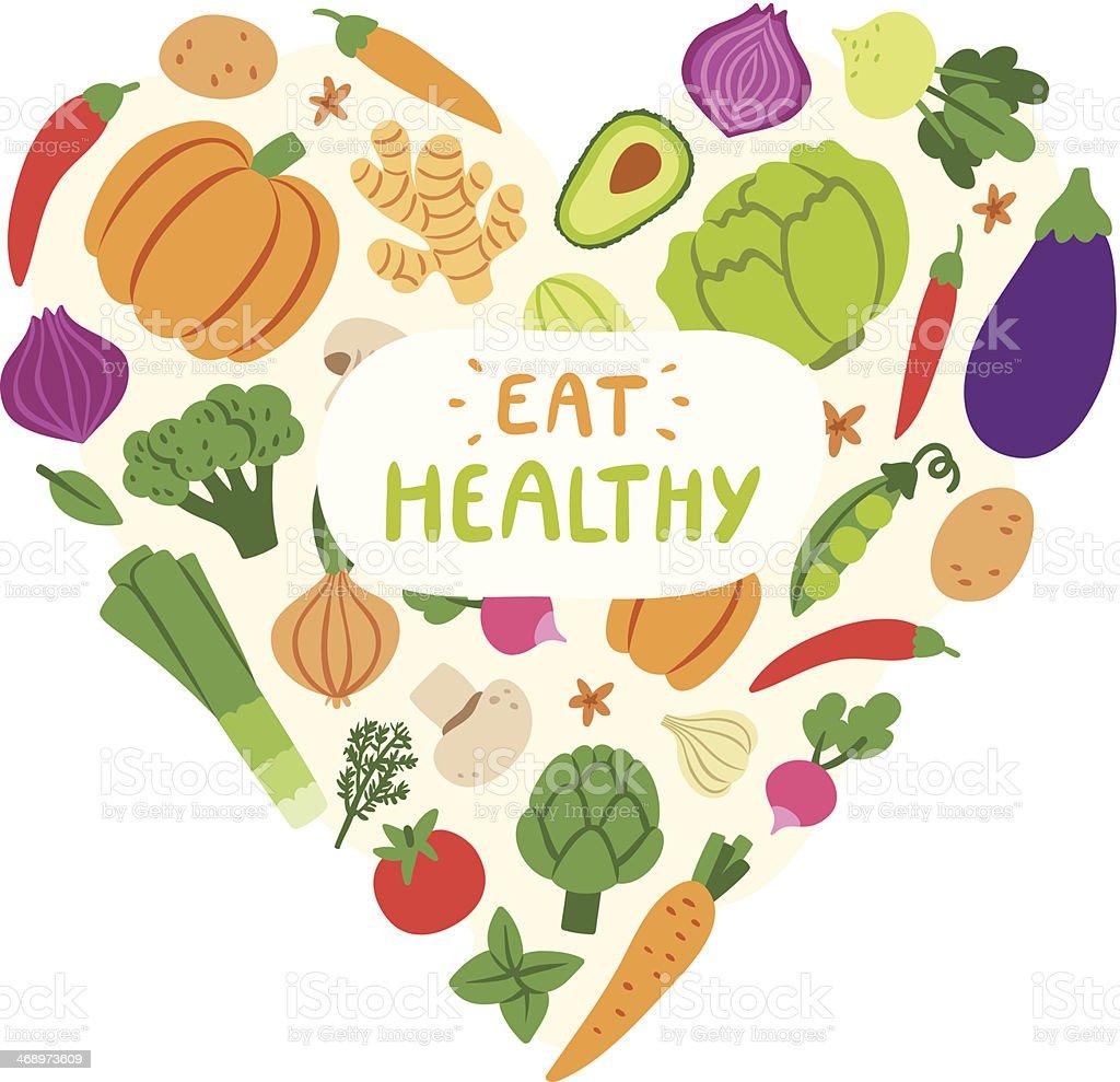 Eat healthy vector art illustration