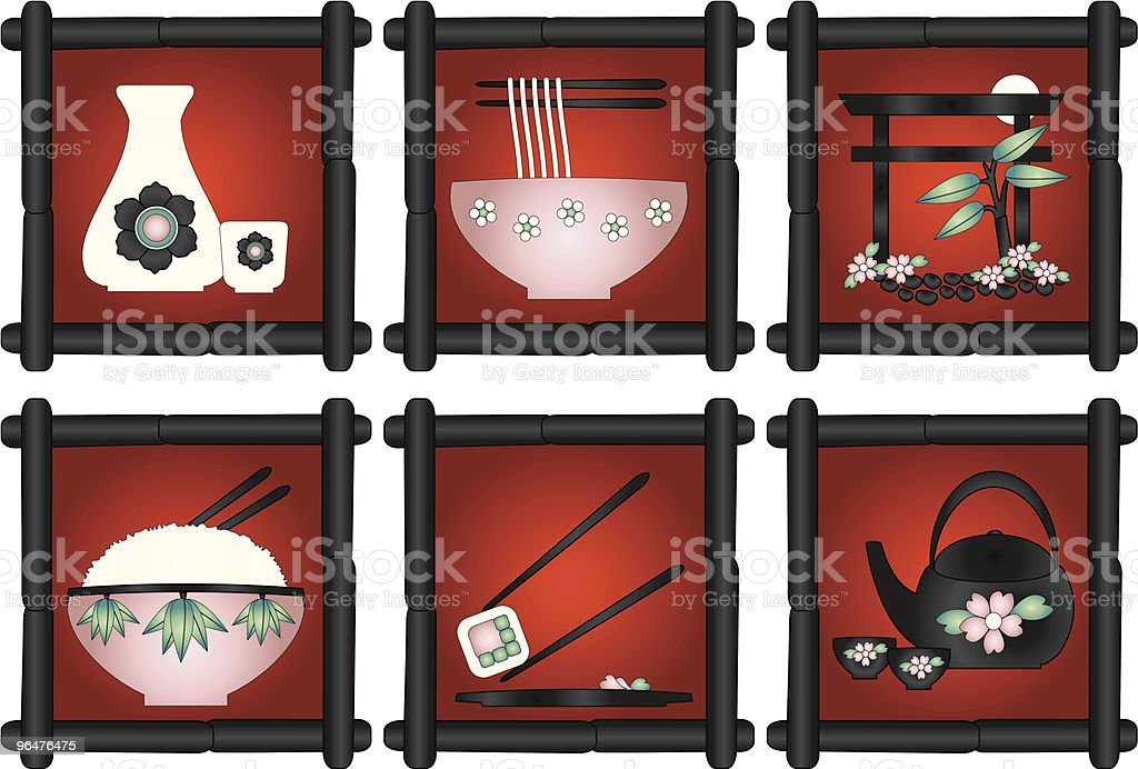Eat in Japan vector art illustration
