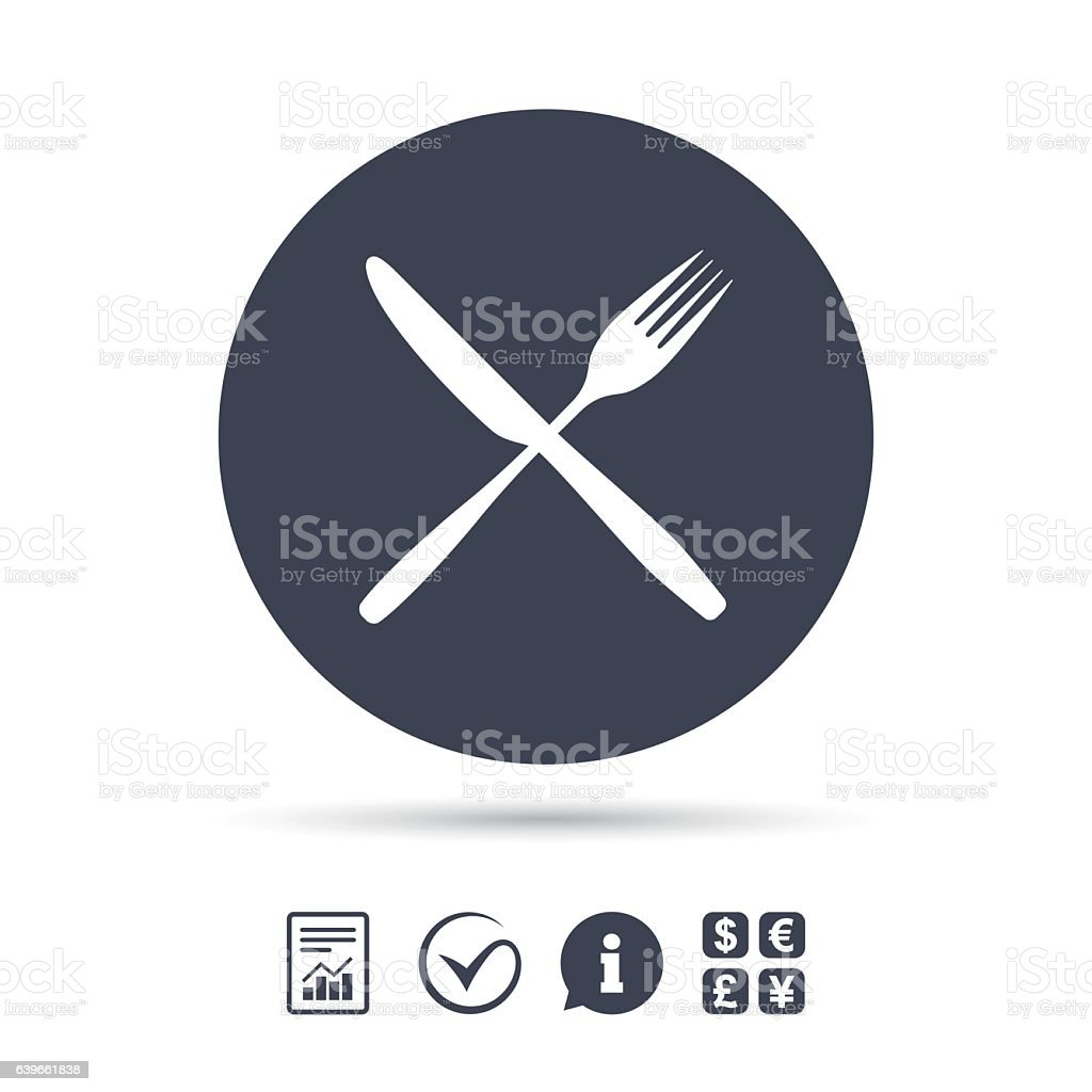 Eat sign icon. Cutlery symbol. Fork and knife. vector art illustration