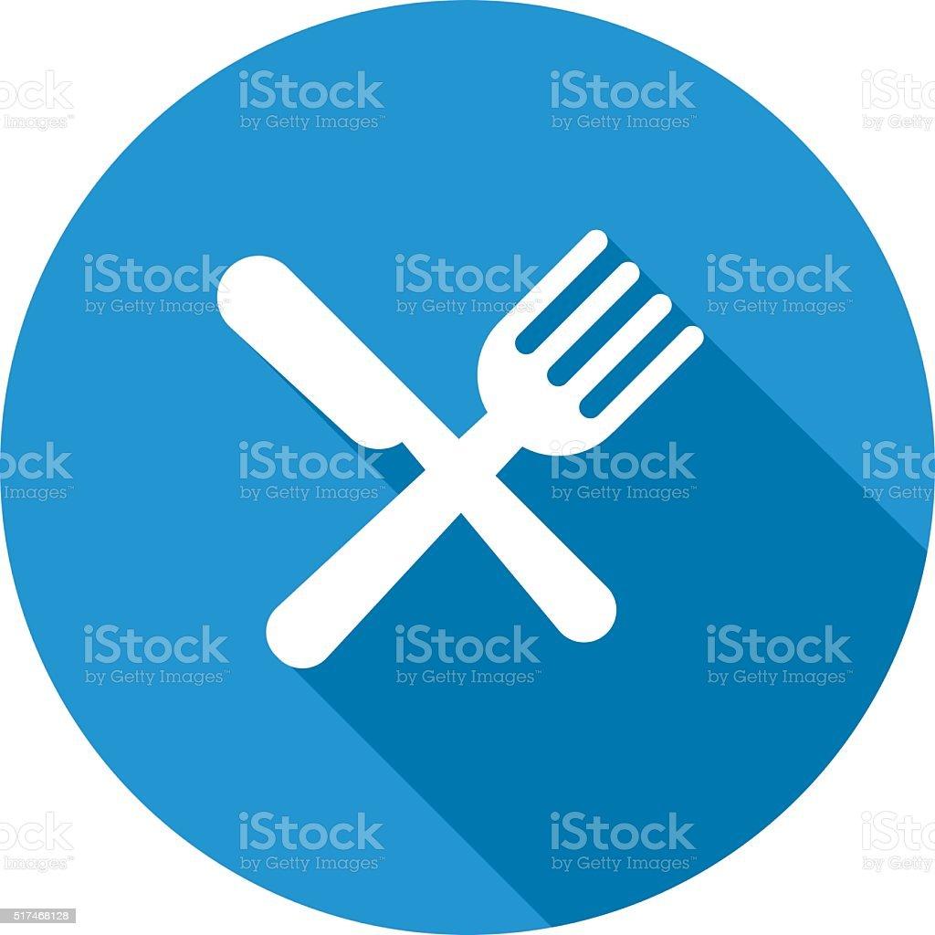 Eat sign icon. vector art illustration