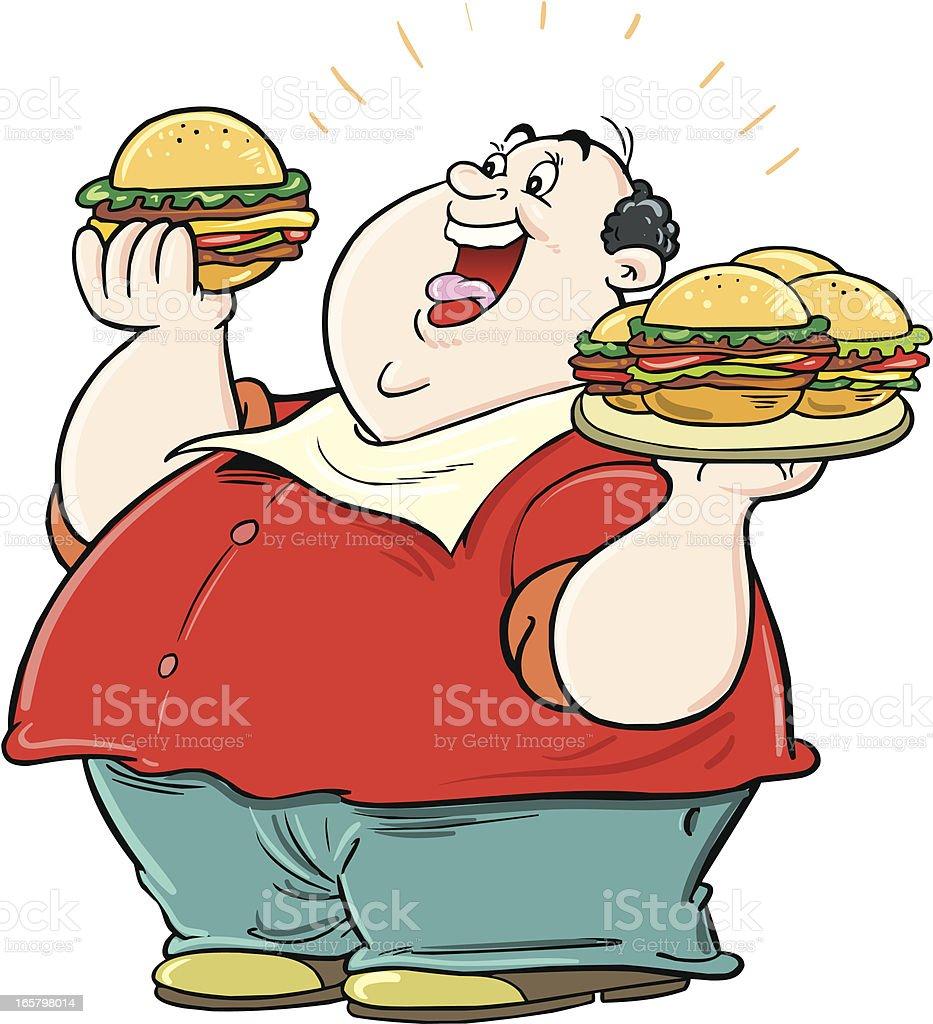 Eating hamburger royalty-free stock vector art