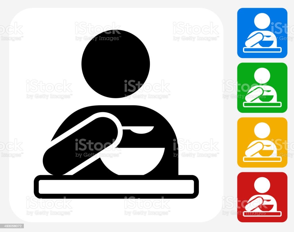 Eating Icon Flat Graphic Design vector art illustration